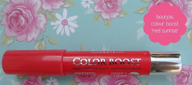 bourjois color boost lip crayon – red sunrise
