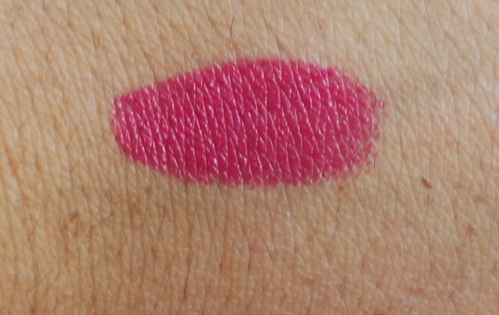 mac girl about town lipstick swatch