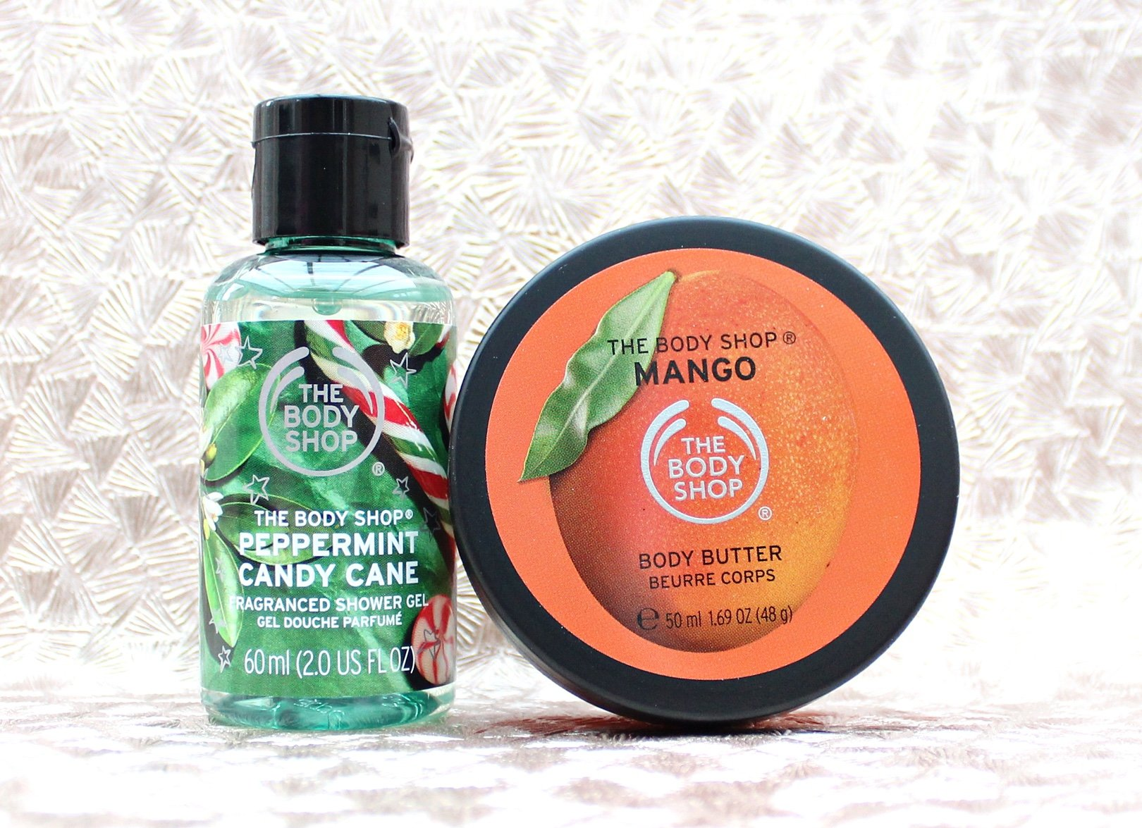 The body shop peppermint candy cane mango body butter