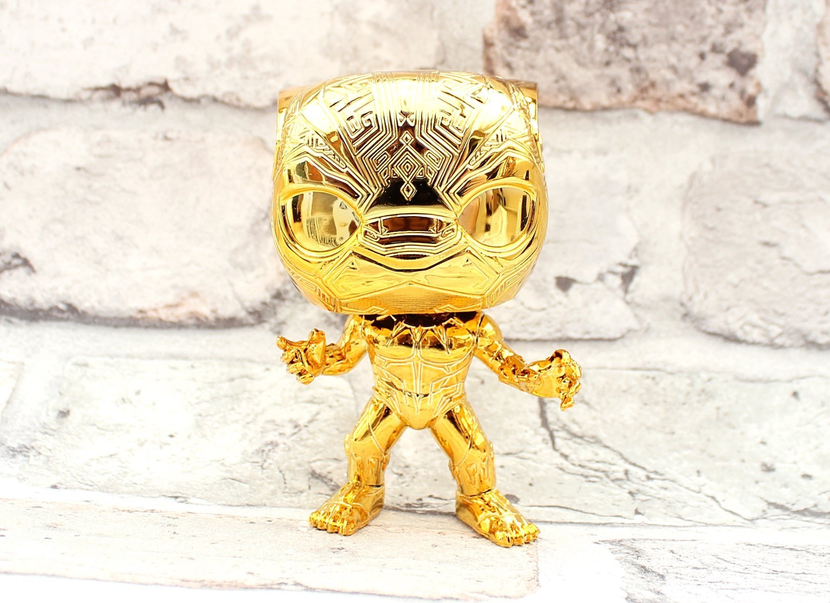 gold black panther funko pop