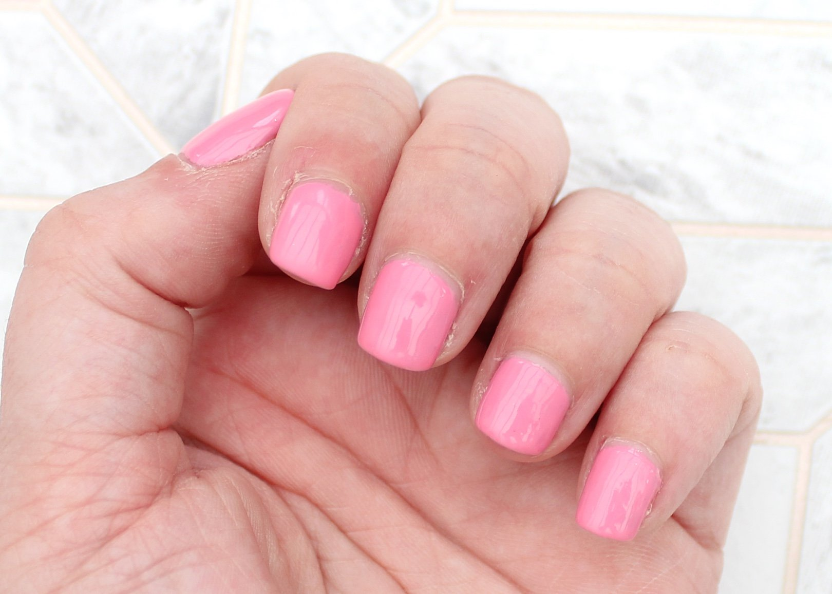 Nails Pink Beau Gel Collection review