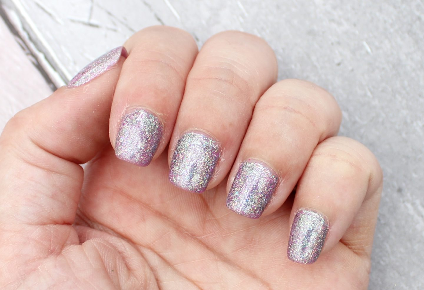 silver holographic nail pigment