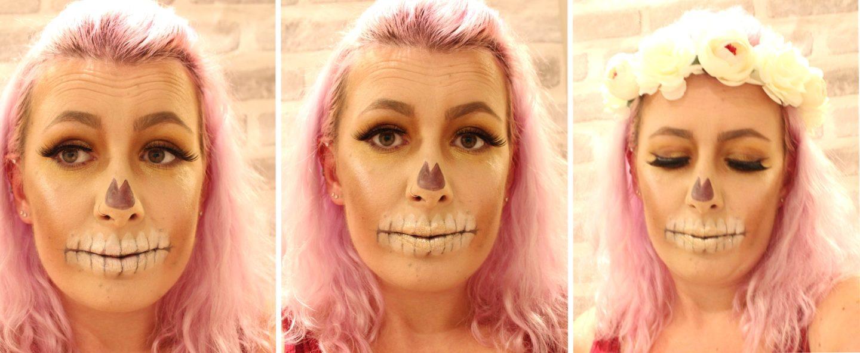 Glittery Skull Makeup step 6