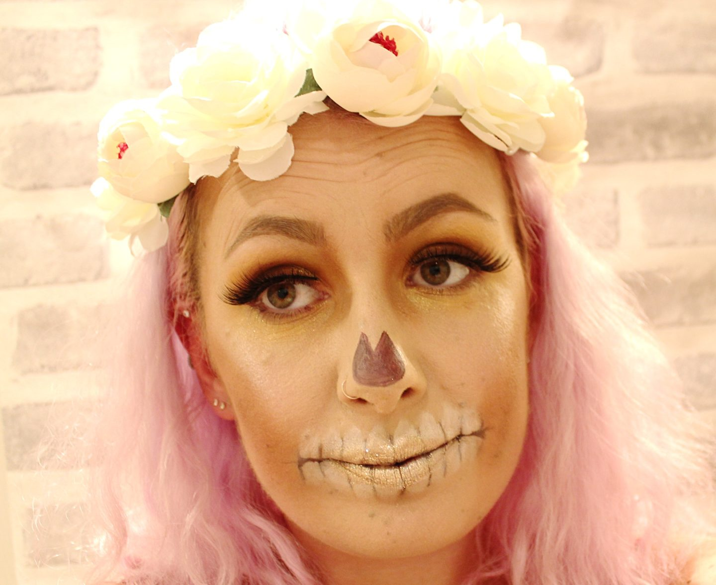 Stand Out From The Crowd with BootsCampaign Glittery Skull Makeup