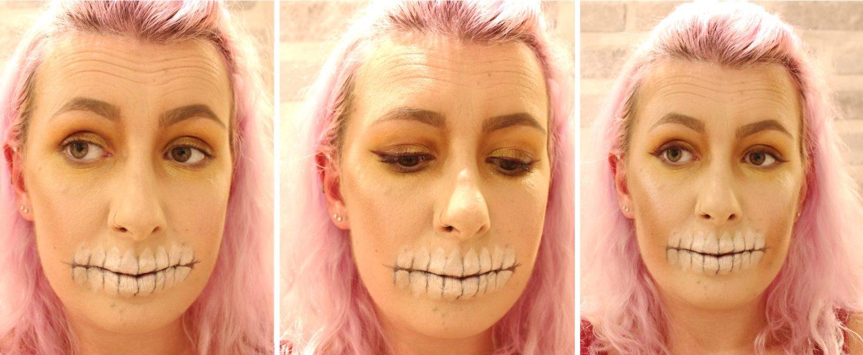 Glittery Skull Makeup step 5