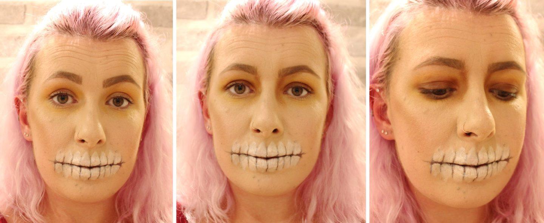 Glittery Skull Makeup step 4