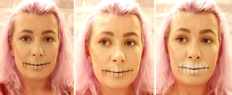 Glittery Skull Makeup step 3