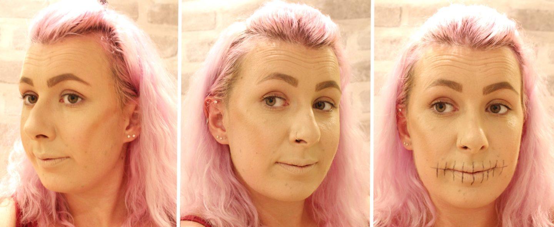Glittery Skull Makeup step 2