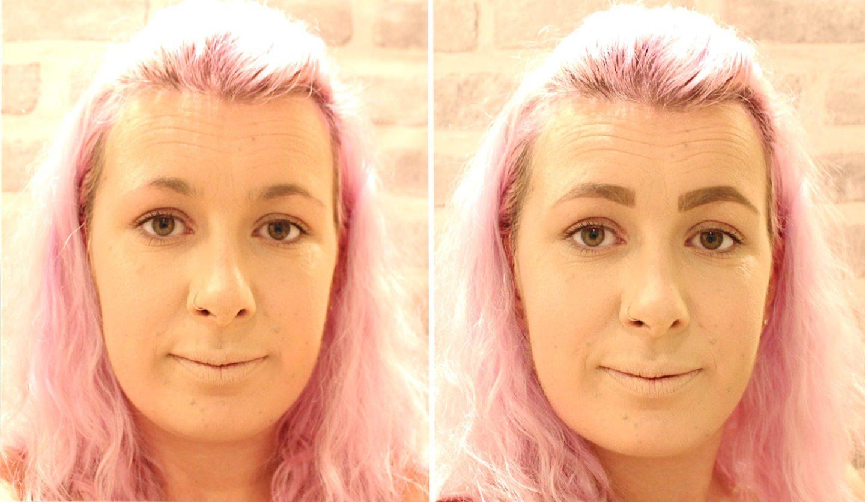 Glittery Skull Makeup step 1