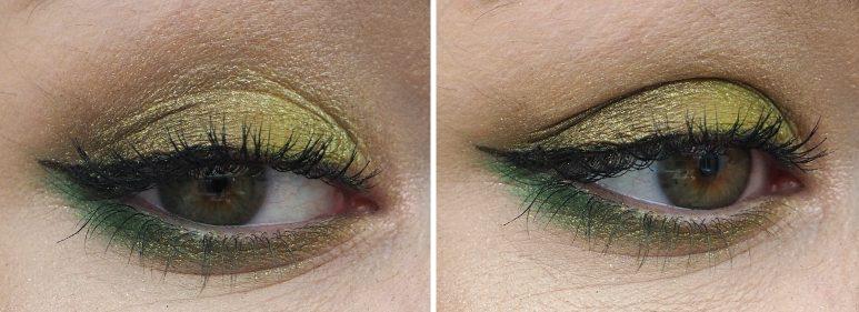 Makeup Look It's Not Easy Being Green swatch morphe jeffree star