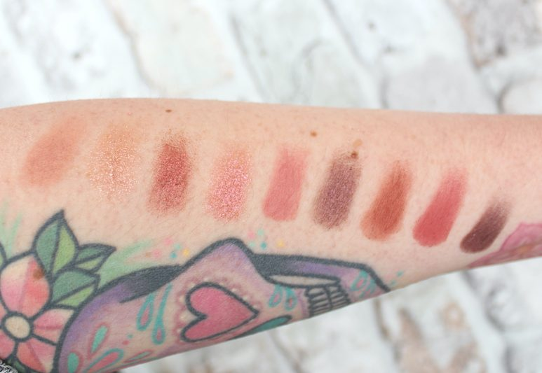 Huda Beauty Nude Obsessions Eyeshadow Palette Rich Swatch
