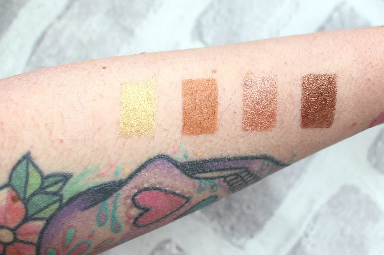 MAC Gilty Pleasure Swatches