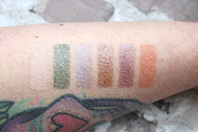 Urban Decay Stoned Vibes Eyeshadow Palette Swatches
