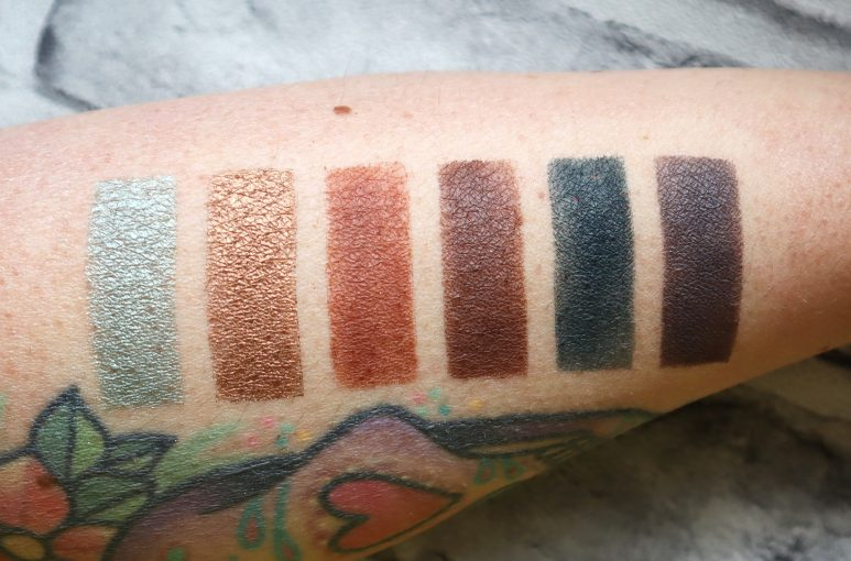 Urban Decay Naked Wild West Eyeshadow Palette Swatches